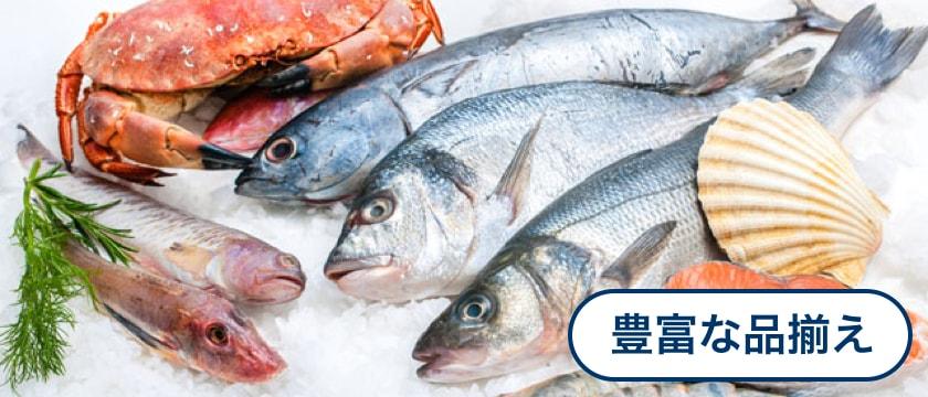 水産品1,800種以上、豊富な品揃え